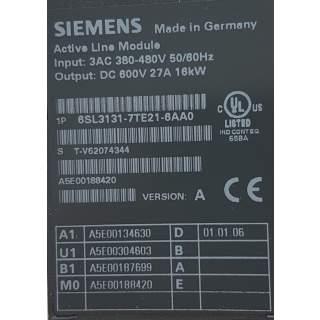 6SL3131-7TE21-6AA0   Line Module 16 KW