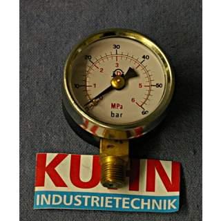 Druckanzeige   60 bar / 6 Mpa